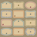 Blank vintage labels set (vector) Stock Image