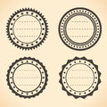 Blank vintage round labels quality vector illustration Royalty Free Stock Image