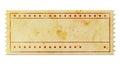 Blank vintage ticket Royalty Free Stock Photo