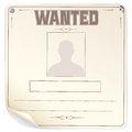 Blank wanted poster vector this is file of eps format Royalty Free Stock Images