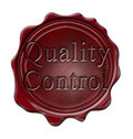 Blank wax seal Royalty Free Stock Images