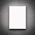 Blank White Board On Wall Royalty Free Stock Photo
