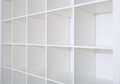 Blank white bookshelf shelves empty Stock Photos