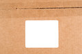 Blank white label cardboard box users can add copy to blank label Royalty Free Stock Image