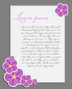 Blank white page decorated with flower vector Stock Photos