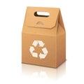 Blank white paper ecologic craft packaging bag Royalty Free Stock Photo