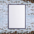 Blank white posters on the wall in empty subway with wooden bench on the floor, mock up 3D Render Royalty Free Stock Photo