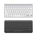 Blank wireless keyboards Royalty Free Stock Photo