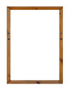 Blank wooden picture frame Royalty Free Stock Photo
