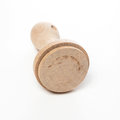 Blank wooden stamp on white Royalty Free Stock Photo