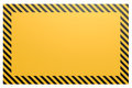 Blank yellow and black banner
