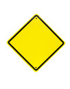 Blank yellow sign empty yellow symbol on white background Stock Image