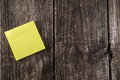 Blank Yellow Sticky Note Post It Royalty Free Stock Photo