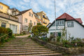 Blankenese hamburg germany stairs in Royalty Free Stock Photos