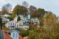Blankenese tourism hamburg hill with houses in Royalty Free Stock Photography