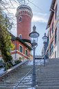 Blankenese with villas is a district of hamburg Royalty Free Stock Photography