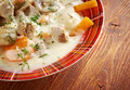 Blanquette de veau is a french veal ragout farm style Royalty Free Stock Images