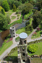 Blarney castle from top tower and park taken the battlements ireland Stock Photo