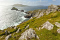 Blasket isalnds scenic irish west coast looking from dingle peninsula europe s most westerly mainland point in western ireland Stock Images