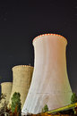 Blast furnace by night concrete from the thermal power plant Royalty Free Stock Images