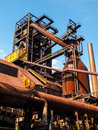 Blast furnace in steel factory metallurgical area of dolni vitkovice ostrava czech republic Stock Photo