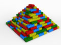 Blasted pyramid from varicoloured blocks Royalty Free Stock Images