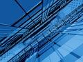Blaue Unbegrenztheit der Struktur 3d Lizenzfreies Stockfoto
