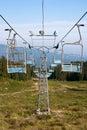Blauer Skiaufzug Stockfotografie