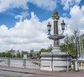 Blauwbrug (Blue Bridge) in Amsterdam, Netherlands. Royalty Free Stock Photo