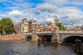 Blauwbrug bridge in Amsterdam. Royalty Free Stock Photo