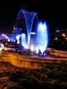 Blauwe fonteinen Stock Foto's