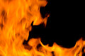 Blaze fire from flame isolated on black background Stock Photography