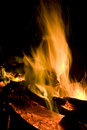 Blazing Campfire Royalty Free Stock Photos