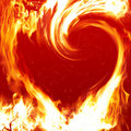 Blazing heart Royalty Free Stock Photo