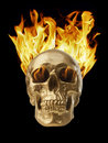 Blazing Skull Royalty Free Stock Photo