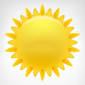 Blazing sun clip art vector isolated Royalty Free Stock Photo