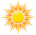 Blazing sun vector illustration Royalty Free Stock Photo