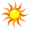 Blazing sun vector illustration Stock Images