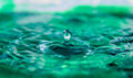 Blue Green Water Drop Royalty Free Stock Photo