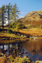 Blea tarn langdale cumbria the idyllic in the mountains of in the lake district national park england is the name for a small Royalty Free Stock Photo