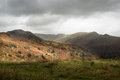 Bleak autumn day on the bracken covered fells of the lake district Stock Photography
