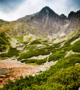 Bleak Tatra mountains landscape Stock Photo