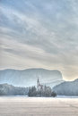 Bled castle and lake Royalty Free Stock Photo