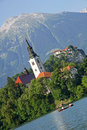 Bled Church Stock Image