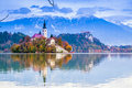 Bled with lake, Slovenia, Europe Royalty Free Stock Photography