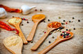 Blend of spices variety Stock Images