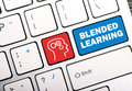 Blended learning concept on keyboard button Stock Photo