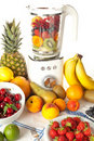 Blender and fruit Royalty Free Stock Images