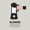 Blender home appliance vector illustration Royalty Free Stock Images