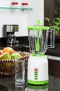 A blender in the kitchen